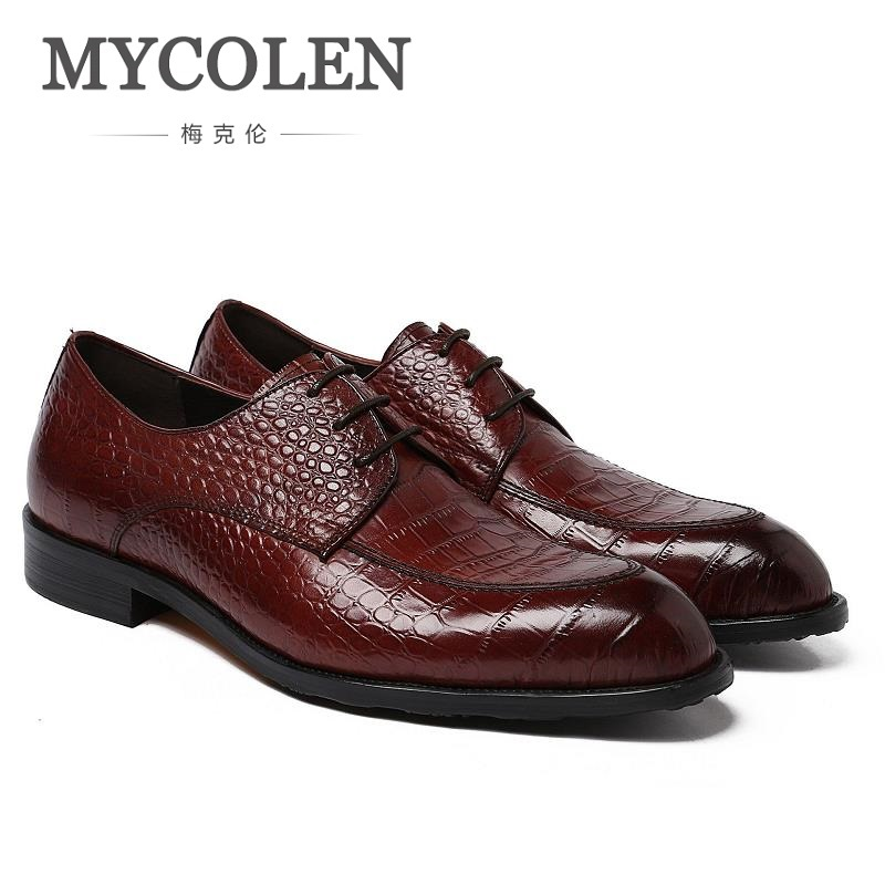 MYCOLEN New Luxury Men Dress Shoes In Men's Oxford Patent Leather Business Formal Shoes Men's Leather Wedding Shoes Derby Homme