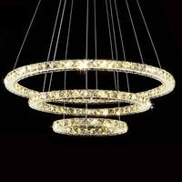 Best Selling LED Crystal Ring Chandelier Lamp Light Lighting Fixture Modern LED Rings Lusters Diameter 700mm