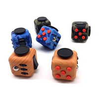 Camouflage Wood Grain Fidget Cube Toys Original Quality Puzzles Magic Cubes Anti Stress Reliever With Box