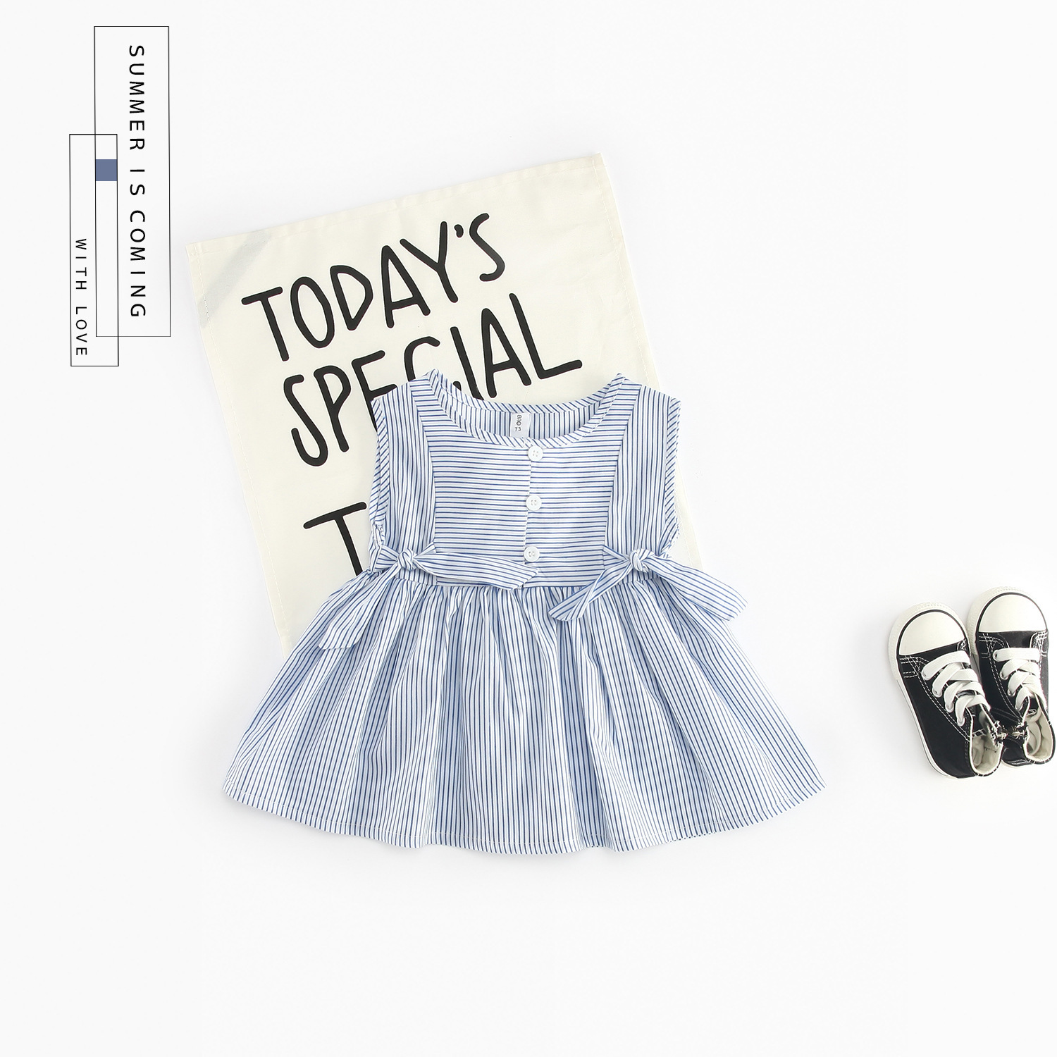 Baby Dresses 2018 New Arrival Summer Kids Baby Girls Dress Casual Bow Tie Baby Girl Clothes for Newborns Vestido De Bebe