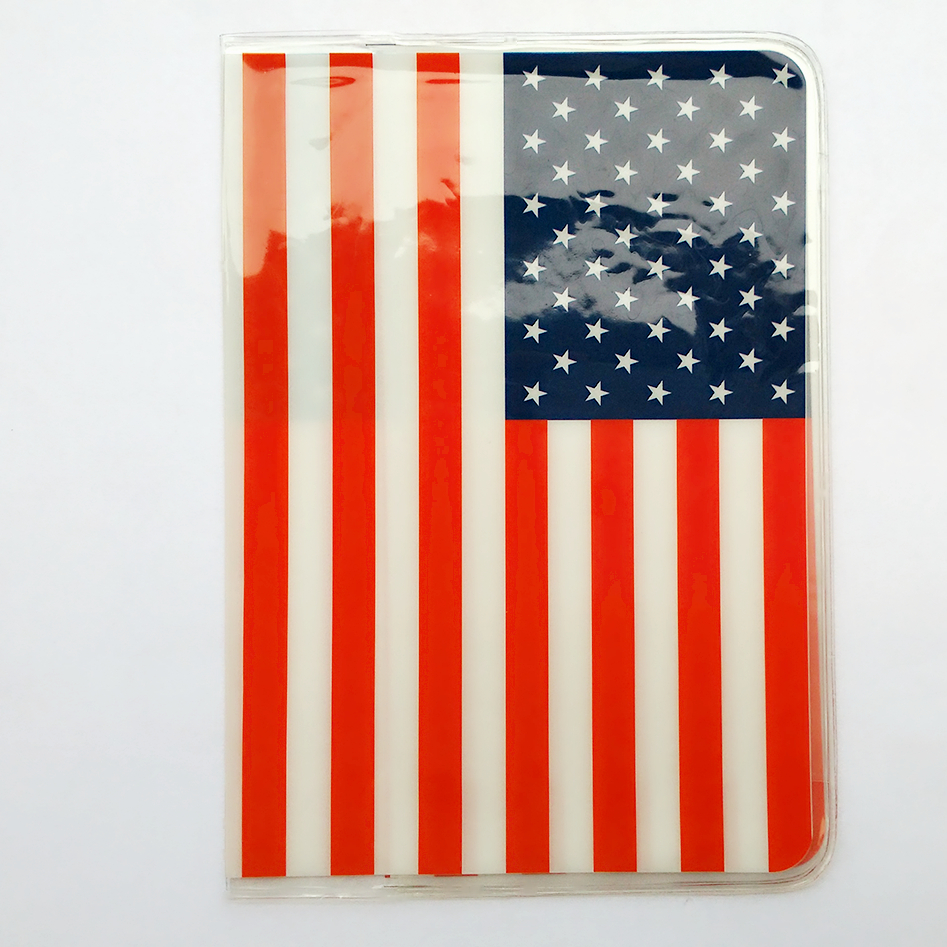 The American flag Passport Cover Passport Holder for Travel,PVC Leather Passport Bag Passport Wallets Case Size:10*14CM ...