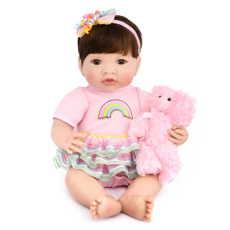 22 full silicone vinyl body reborn dolls baby reborn girl soft body best children sleeping boy gift toys brinquedos bonecas New Silicone Vinyl Doll Reborn Babies 35cm Dolls for Girl Toys Soft Body Lifelike Newborn Baby Bonecas Best Gift For Kids child
