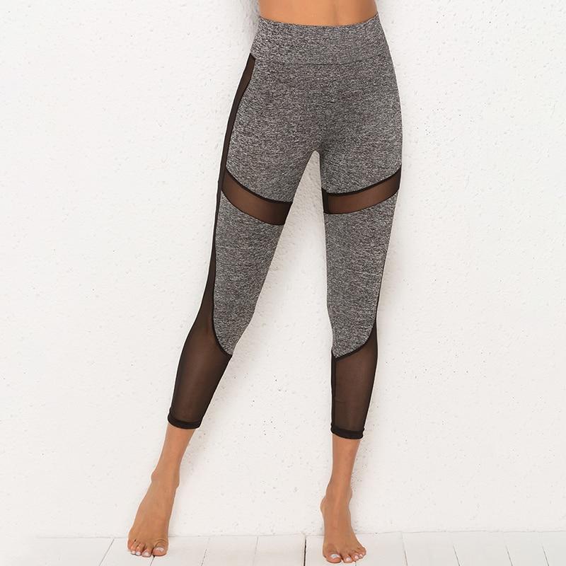 Pants Leggings Women Mesh Patchwork Push Up Professional Running Fitness Gym Sport Legins Trouser Pencil Leggins
