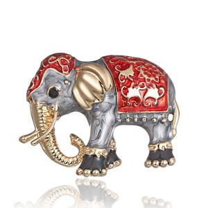 Fashion Painting Oil Animal pet Elephant cartoon alloy Brooch Needle Corsage Accessories Vintage Brooch Pin Jewelry