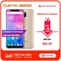 Смартфон OUKITEL U18 Face ID 5,85 дюймов 21:9 Android 7,0 Octa Core 4 Гб ОЗУ 64 Гб ПЗУ 4000 мАч 16MP + 13MP 4G мобильный телефон