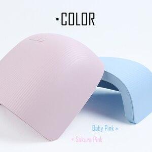 Image 5 - 36W UV LED Nail Lamp Pink Blue Nail Light Gel Polish Varnish Cured Professional Nail Dryer Dual Source Timing Manicure SA1504