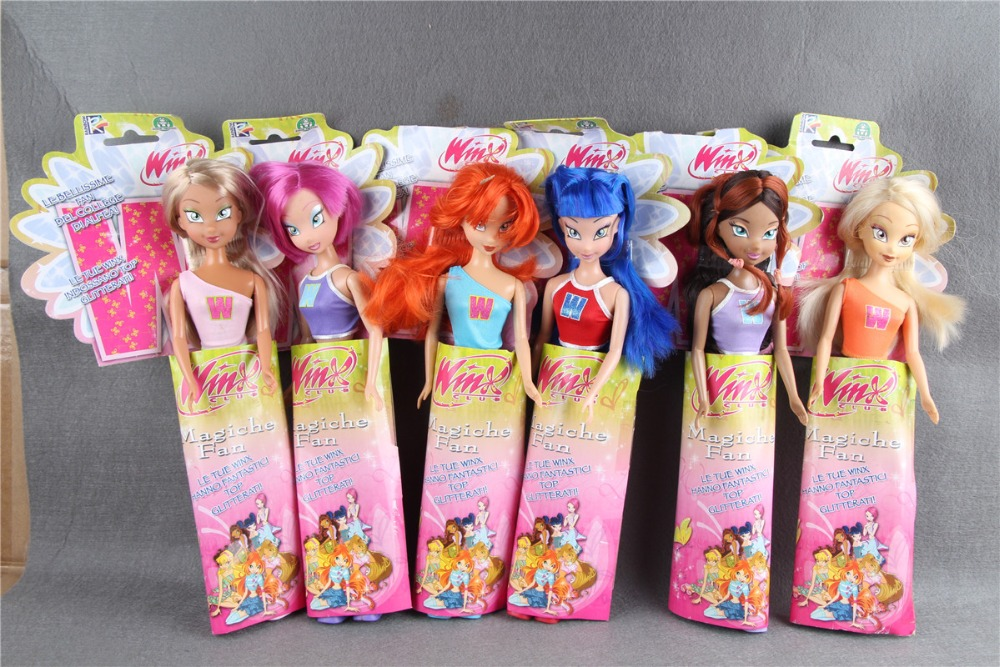 Original Winx club Bloom Musa Beautiful girl Magiche Fan Doll Collection Toys