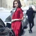 НОВЫЙ стиль длинные шали Паскуаль шарфы большой шарф сплошной цвет пашмины шелковый шифон элегантных женщин шарф мыс 150*110 см