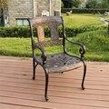 Sillas de jardín sillas muebles de exterior de aluminio fundido 2 unids/lote transporte por mar
