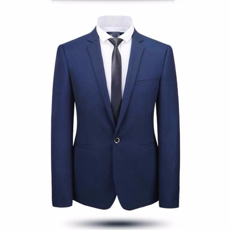 2.1New arrival men suits jacket good quality formal business suits jacket custom one button wedding best man dress jacket