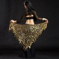 11 Colori Danza Del Ventre Abbigliamento Cintura Triangolo Lungo Nappa Argentina Mano Crochet Donne Danza Del Ventre Hip Sciarpa Monete Cintura