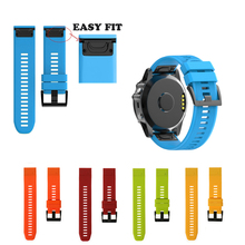 26 MM Pulseira de Liberação Rápida para Garmin Fenix 5X Alça para Garmin Fenix 3 3 HR GPS Relógio de Silicone Substituição Easyfit Wrist Band
