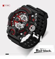 SANDA Men Women Waterproof Outdoor Sports G Style Shock Quartz Watch Dual Timezone Digital Watch Military