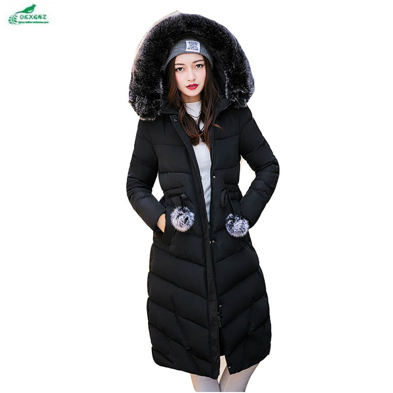 Women feather cotton Outerwear medium long section large size Thickening cotton clothing winter warm jacket coat clothing OKXGNZ baby rompers 2016 spring autumn style overalls star printing cotton newborn baby boys girls clothes long sleeve hooded outfits