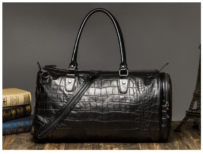Alligator Pattern PU Leather Men Luggage Bag Korean Style Simple Protable Leisure Multifunction Male Travel Bagl265