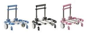 Image 2 - New Arrival Folding portable shopping cart Home aluminum alloy shopping cart trolley car Luggage trailer Aluminum alloy cart car