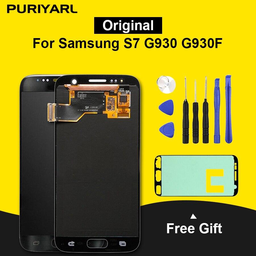 Ecran Pantalla Para Samsung S7 G930 G930F Original LCD Touch Screen Digitador Para Samsung Galaxy S7 Substituição Screen Display