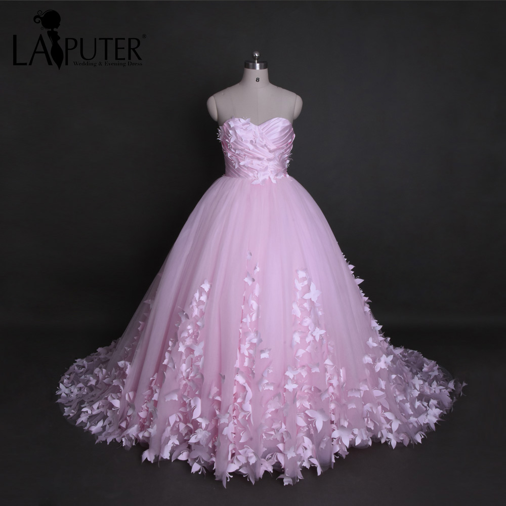 Anime Ball Gown White With Red Roses: Real Pictures Sweetheart Ball Gown White Ivory Pink