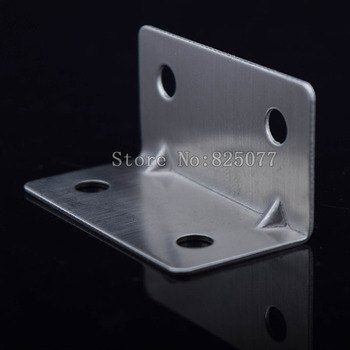 100PCS 40x21x21mm Practical Stainless Steel Corner Brackets Joint Fastening Right Angle Brackets For Wood Furniture Home KF1065