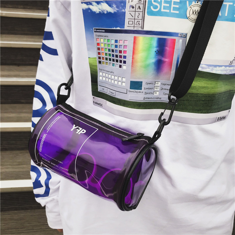 2019 Summer New Hot Fashion PVC Transparent Jelly Handbags for Women Female Casual Beach Bags Messenger Bags Shoulder Bags(China)
