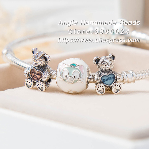 Fashion Jewelry Bracelet S925 Sterling Silver Jerry Mouse and Bear End Product Charms Bracelet Set Fit Woman Gifts For GirlsFashion Jewelry Bracelet S925 Sterling Silver Jerry Mouse and Bear End Product Charms Bracelet Set Fit Woman Gifts For Girls