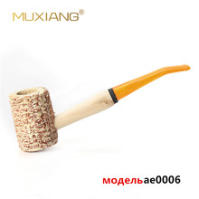 Tobacco-Pipe Wooden Macarthur-Style Mouthpiece Acrylic Cob Corn with Yelle Stem Ae0006