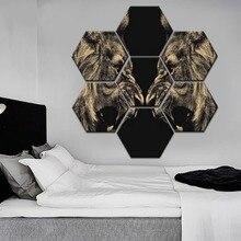 Framework Or Frameless One Set 7 Piece Combinatorial Art Fierce Lion Painting Modern Canvas Print Home Decor Wall Animal Poster