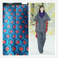Fashion Multicolor the three dimensional gold jacquard brocade fabric for dress coat bright cloth tissu au meter DIY