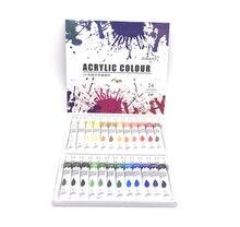 24 цвета, 12 мл/тюбик акриловой краски, набор для рисования стен, Цветной Художественный набор для рисования (без Палетка с кистью)
