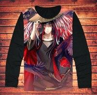 Full Sleeve Uchiha Itachi Printing T Shirt Anime Long Sleeve NARUTO Uchiha Itachi T Shirt Tees