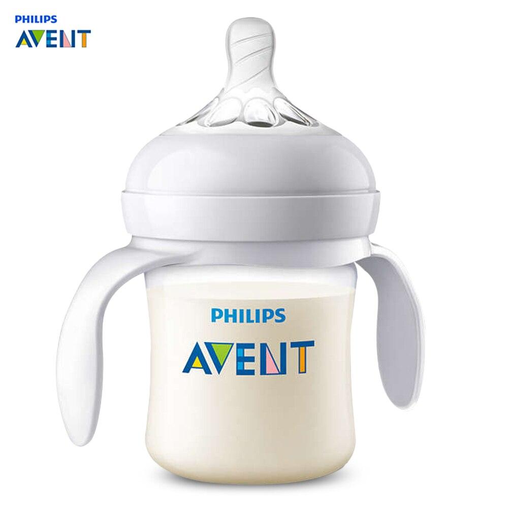 Philips Avent 4oz / 125ml Baby Handle Milk Bottle Training Feeding Drinking Cup Flexible Spiral Design Milk Bottlees Feeding
