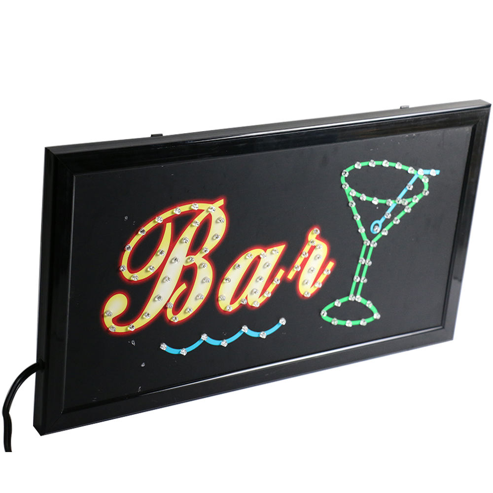 CHENXI Led Bar Sign Board Super Bright Quality Bar Pub Wine Neon Shop Display Advertising Hanging Signs 19x10 inch. neon sign guinne irish lager ale harp signboard real glass beer bar pub shop club display christmas light signs 17 14 art lamp