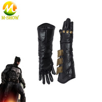 Superhero cosplay Batman gloves Batman Cosplay accessories leather cosplay gloves Justice League Batman cosplay Prop