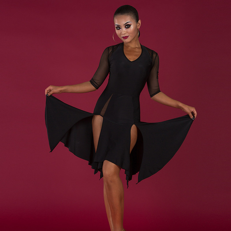 latin style dresses black latin dress women tassel latin American dress latin practice wear salsa dress sumba dance costume