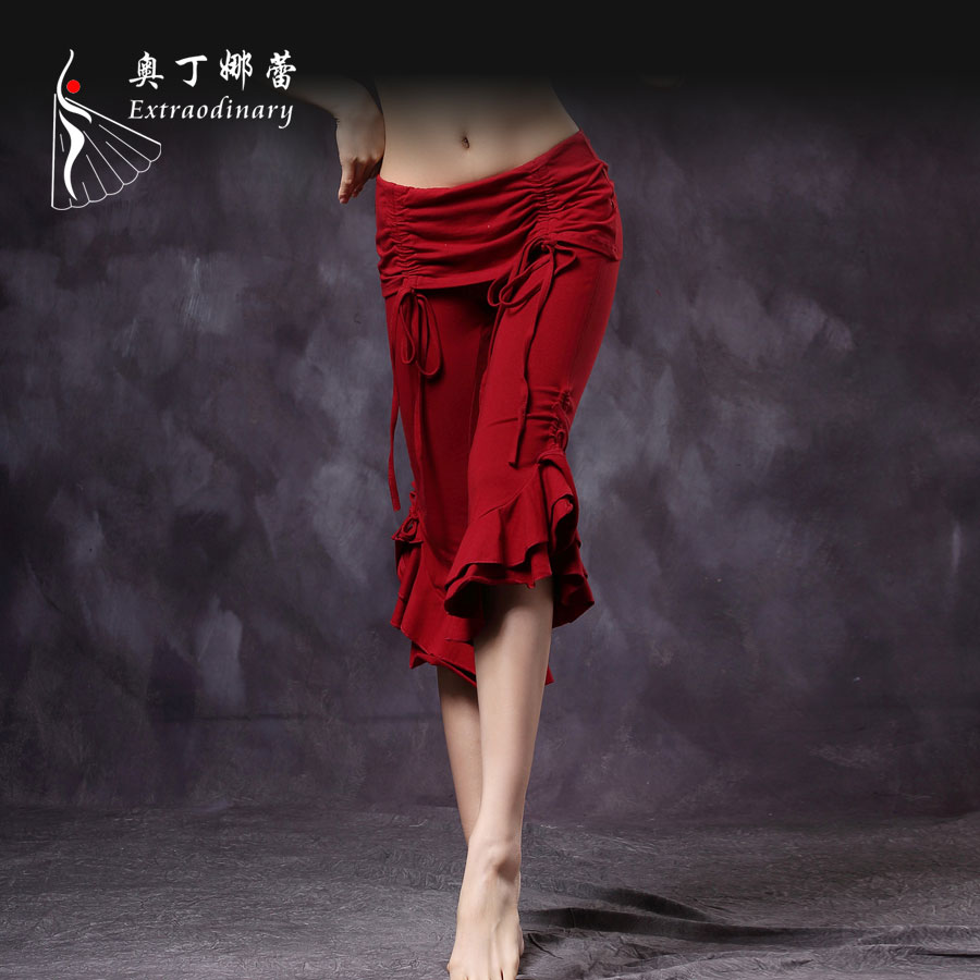 Fashion Adult Women Stage Dance Wear Cropped Trousers Women's Belly Dancing Pants Casual Leggings Trousers Loose Pants ATS01047