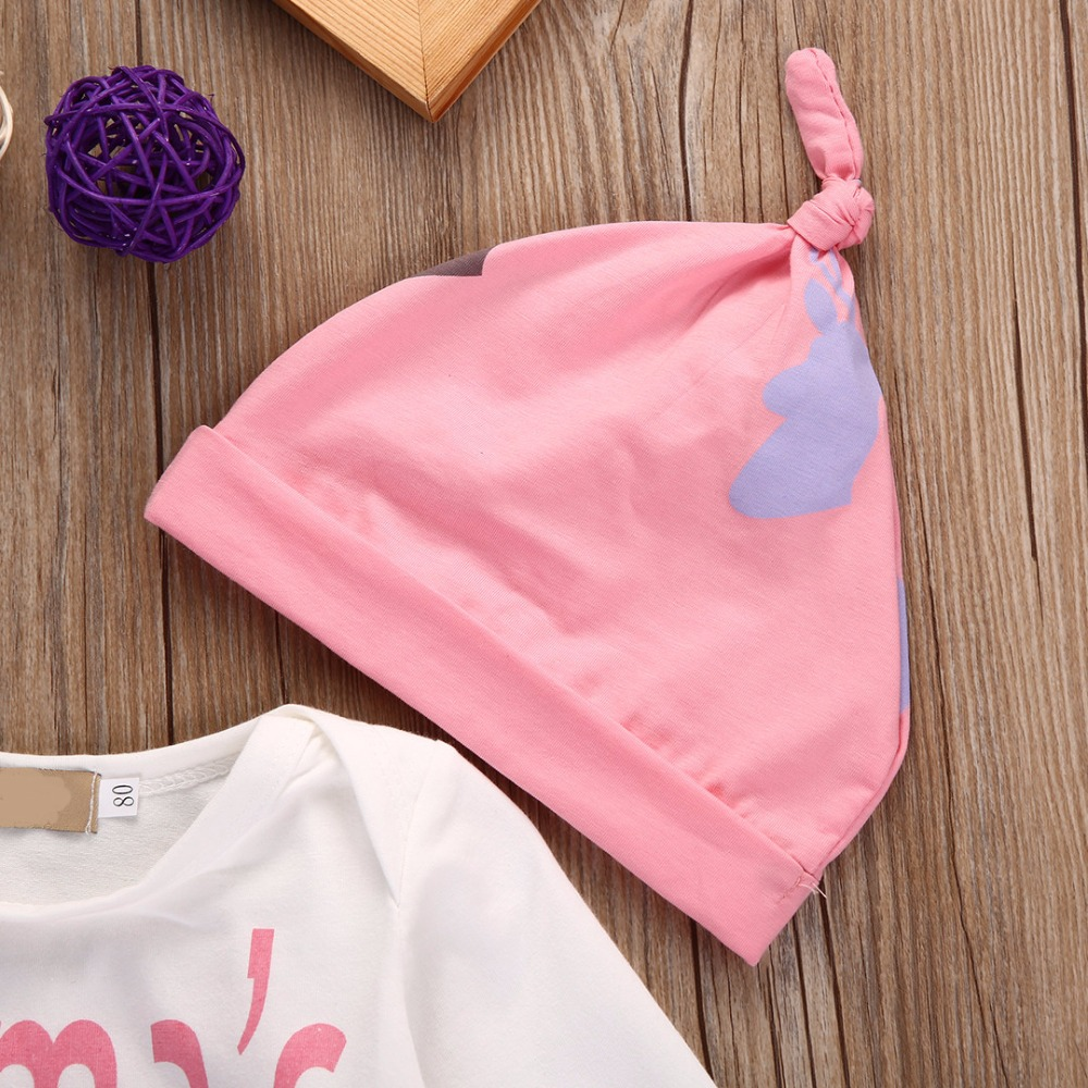 Baby Cothing Sets Newborn Clothes Long Sleeve Rompers Jumpsuit + Long Pants + Hat 3Pcs Outfits Newborn Baby Boys Clothes Set