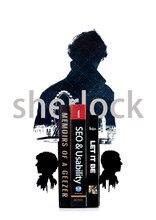 A Pair Creative Sherlock Holmes Metal Bookend Shelf Bookend Holder Office School Supplies  Home Decoration