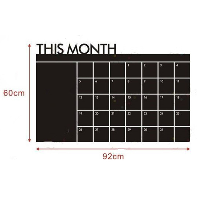 Monthly Planning Chalkboard Wall Sticker
