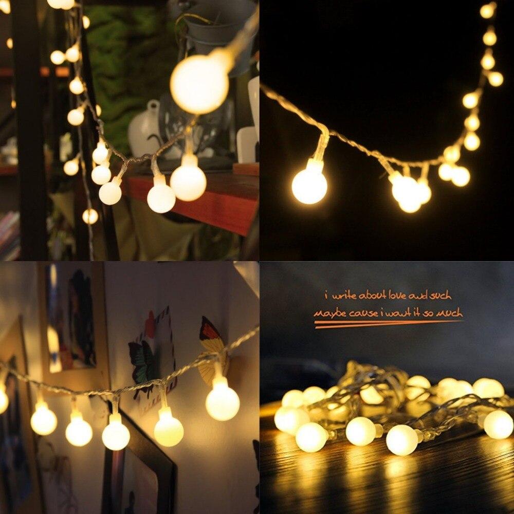 10 m 100 LEDs 110 V 220 V IP44 al aire libre Multicolor LED String luces de Navidad Holiday party decoración de la boda luces LED