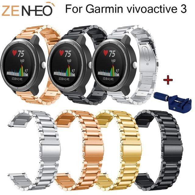 צמיד עבור Garmin vivoactive 3 מתכת נירוסטה רצועת החלפת צמיד להקת שעון עבור Garmin vivoactive3 רצועת השעון