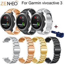 Wristband For Garmin vivoactive 3 Metal Stainless Steel Strap Replacement Bracelet Watch Band vivoactive3 Watchband