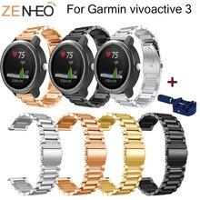 Wristband For Garmin vivoactive 3 Metal Stainless Steel Strap Replacement Bracelet Watch Band For Garmin vivoactive3 Watchband цена в Москве и Питере