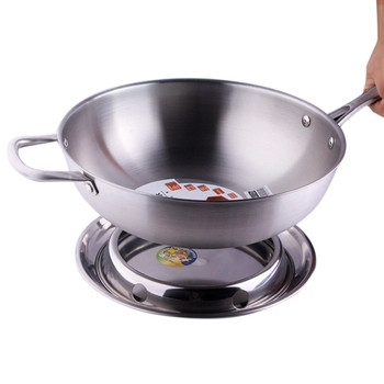 1PC Stainless Steel Wok Rack Round Type Pot Rack Pot Ring Soup Pot Rack for Kitchen Supplies S/M/L/XL
