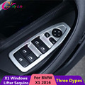4 Pcs/Set Car Window Switch Protection Trim Cover Windows Switch Decoration Sequins Sticker For BMW X1 F48 2016 LHD Accessories