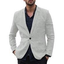 thin men suit Blazer causal Slim Fit Pocket solid Long Sleev