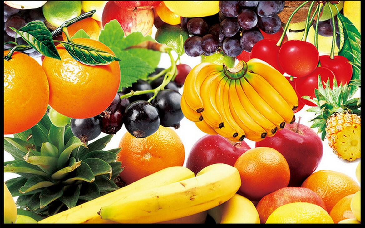 Old Fashioned Fruit And Vegetable Wall Decor Composition - The Wall ...
