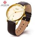 Relojes de Lujo de Los Hombres de Acero Inoxidable de Nuevo Impermeable Auto Fecha Reloj Miyota Movimiento de Moda de Cuero de Alta Calidad Limitada JAL-030M