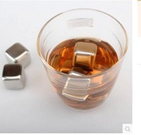 6pcs Magic Stainless Steel Whisky Ice Cubes Bar KTV Supplies Wiskey Wine Beer Cooler HH16170