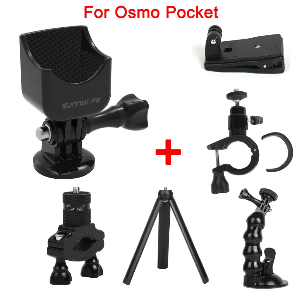 Multifunctional Expanding Adapter Accessories Set with 1/4 Screw For DJI OSMO Pocket Handheld Gimbal Stabilizer