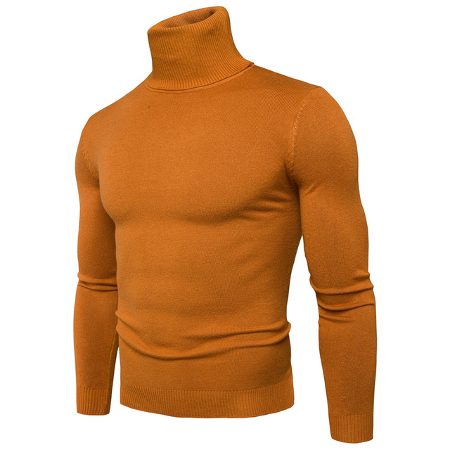 Helisopus 2018 Fashion Turtleneck Sweaters Men Long Sleeve Pullover